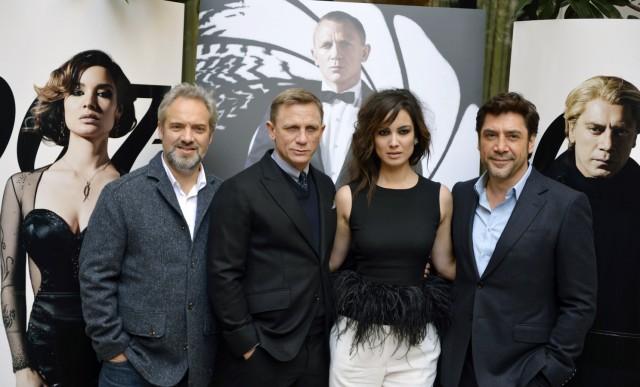 Sam Mendes, Daniel Craig, Berenice Marlohe und Javier Bardem