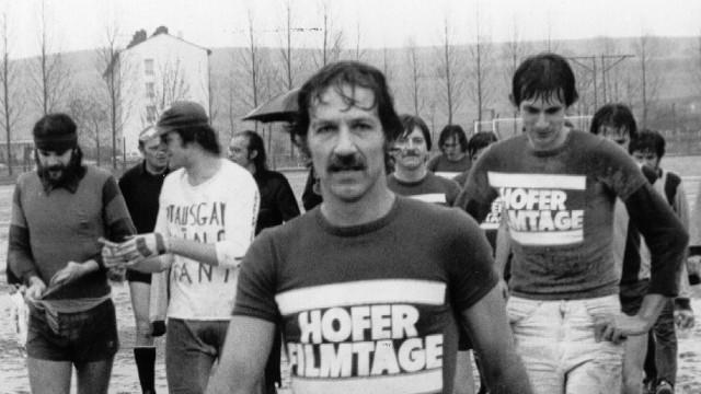 Werner Herzog bei den Internationalen Hofer Filmtagen im Jahr 1977