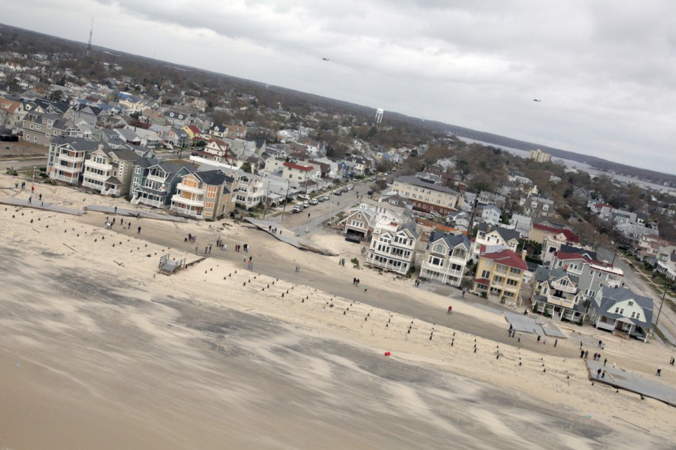 New Jersey Army National Guard aerial views shows the damage caused by Hurricane Sandy to the New Jersey coast