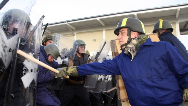 Bundeswehr übt für Auslandseinsatz