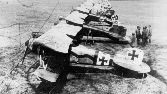 Flugzeuge des Jagdgeschwaders Richthofen im 1. Weltkrieg