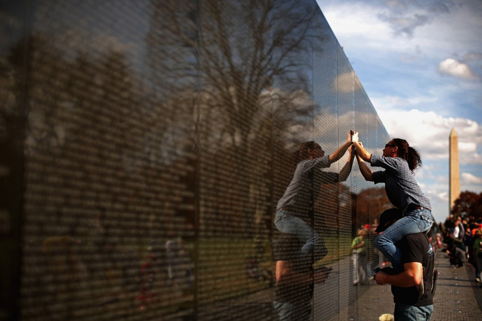 People Gather At Washington War Memorials To Pay Tribute For Veterans Day