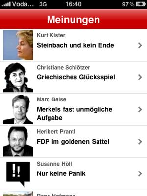iPhone sueddeutsche.de App