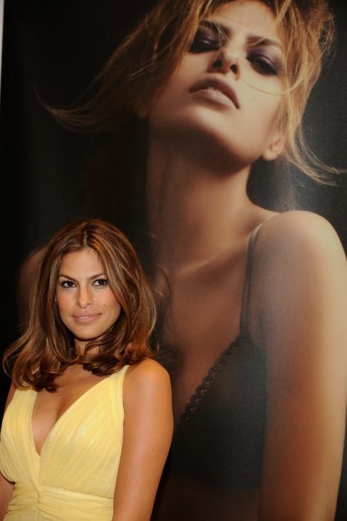 Eva Mendes Promotes Calvin Klein Underwear Collection In Madrid
