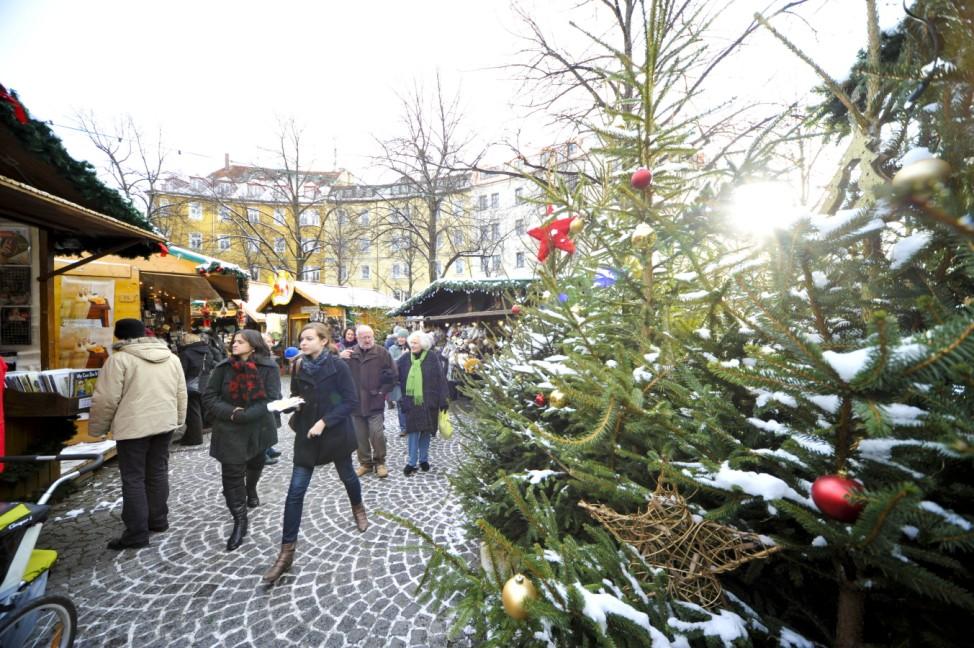 Weihnachtsmarkt, München, Theresienwiese, Christkindlmarkt Weißenburger Platz, Haidhausen