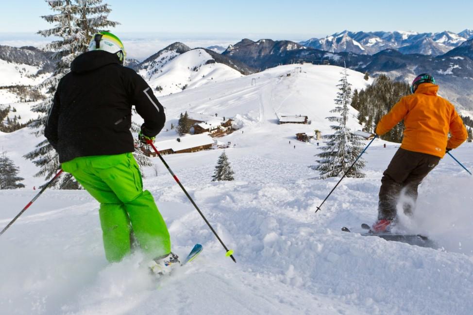 Skifahrer bei Sudelfeld, Bayrischzell