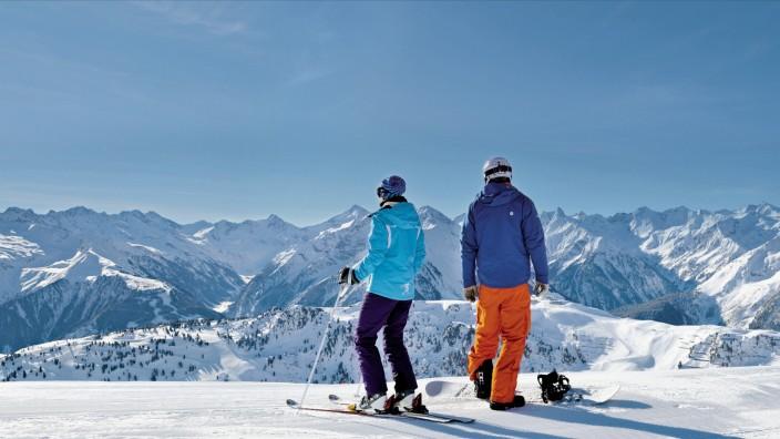Ski Skigebiet Snowboarden Alpen Mayrhofen