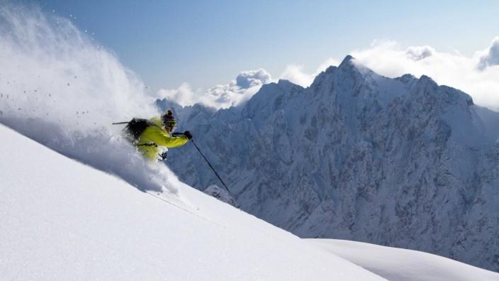 Ski Skigebiet Snowboarden Alpen Zugspitze
