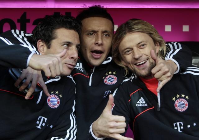 Einwechselspieler: Claudio Pizarro, Rafinha, Anatoliy Tymoshchuk, FC Bayern München, Fu