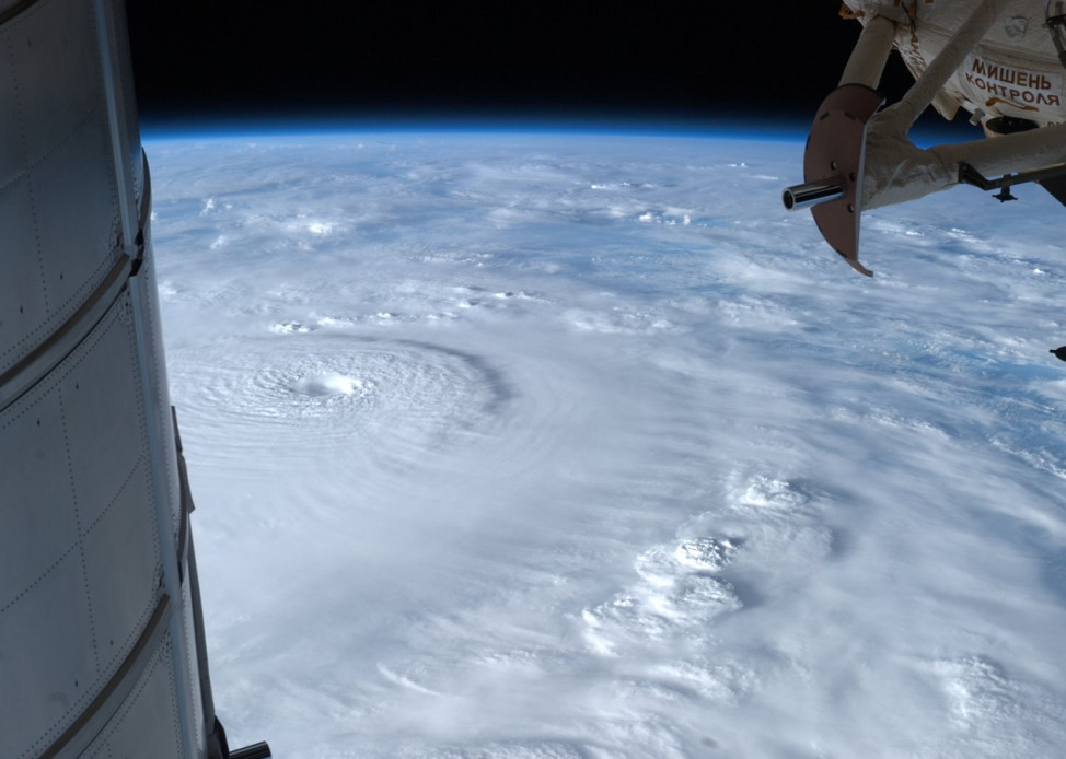 Taifun Bopha - Satellitenaufnahme