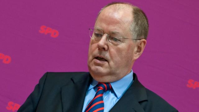 Steinbrück SPD Sarasin Bank Vortrag