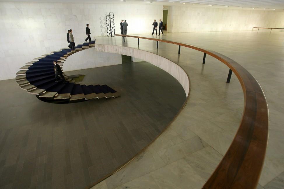 Außenministerium in Brasilia, Oscar Niemeyer, Architekt, Architektur, Brasilien