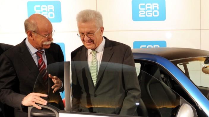 Car2go Flotte wird vorgestellt