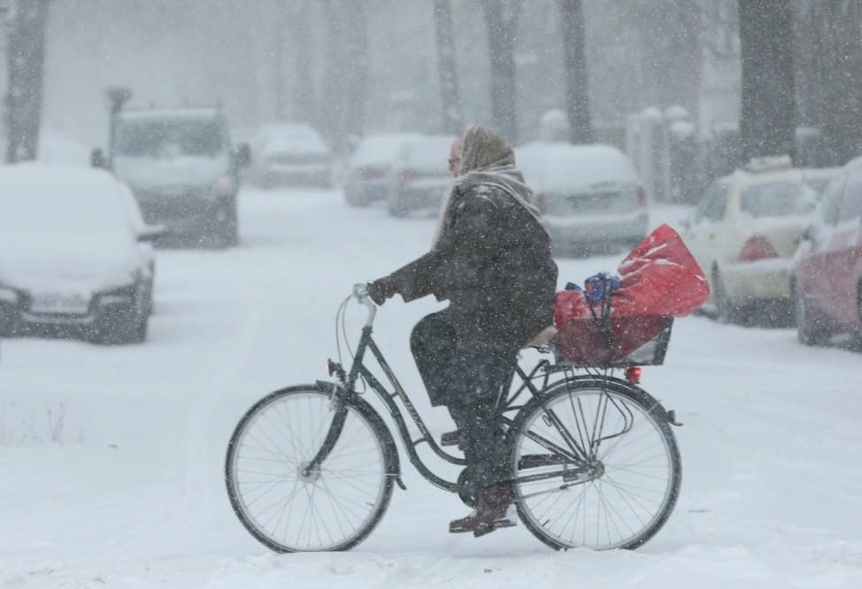 Heavy Snowfall Hits Northeastern Germany