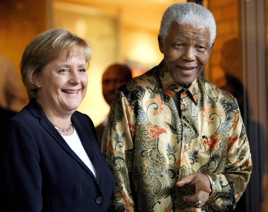 Bundeskanzlerin Merkel trifft Nelson Mandela