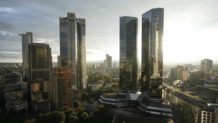 Bankenviertel in Frankfurt