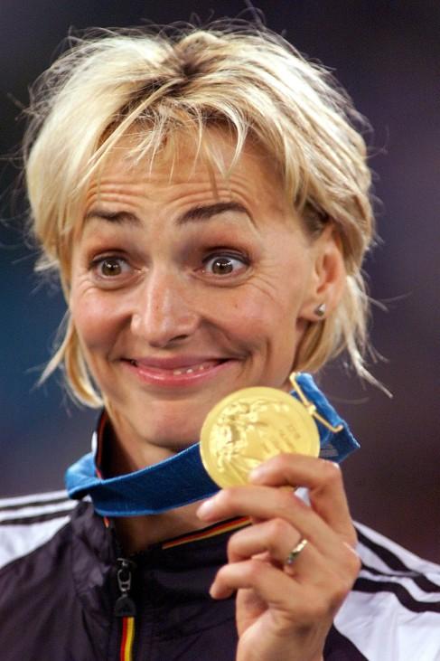 Heike Drechsler  bei den Olympischen Spielen in Sydney, 2000