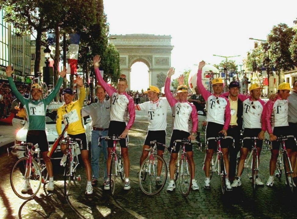 Radsport: Tour de France - siegreiches Telekom-Team, 1997