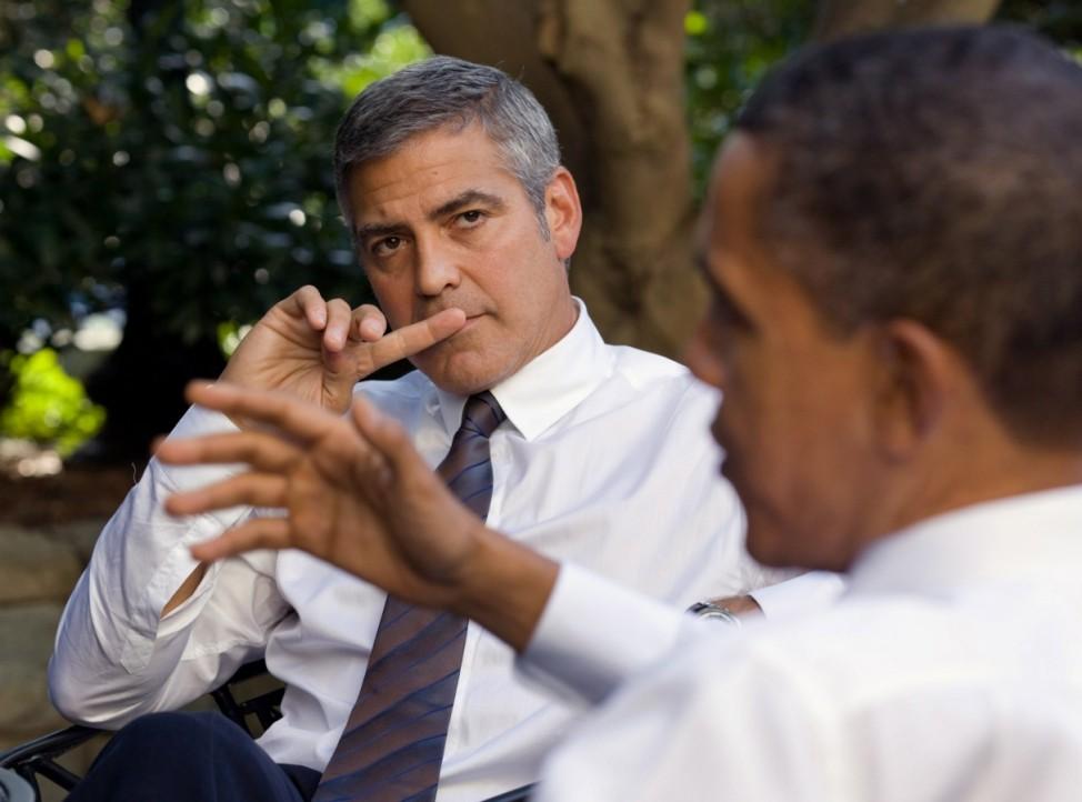 Clooney unterstützt Obama - und lädt zum Präsidenten-Dinner