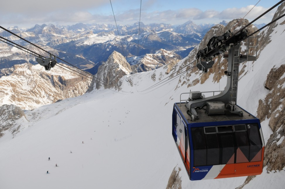 Dolomiten Italien Skisafari Skifahren Marmolada