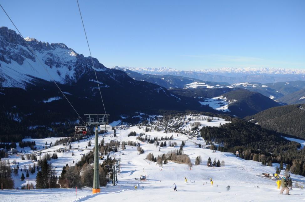 Dolomiten Italien Skisafari Skifahren Dolomiti Superski Dolomiten Carezza Italien