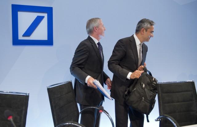 Deutsche-Bank-Vorstandsvorsitzende bekraeftigen 'Kulturwandel'