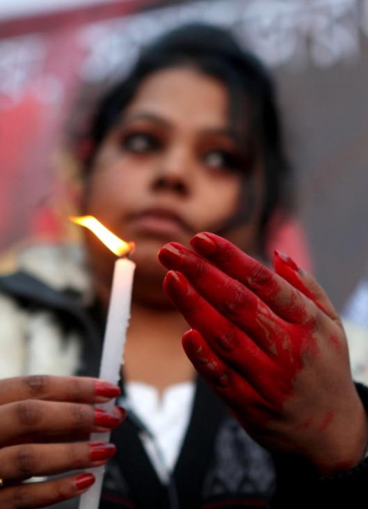 Protest against the recent brutal gang-rape in New Delhi