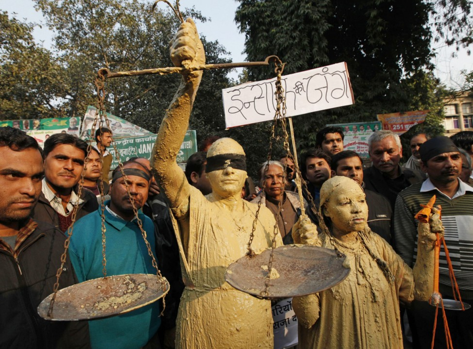 Mourning protest on death of gang rape victim