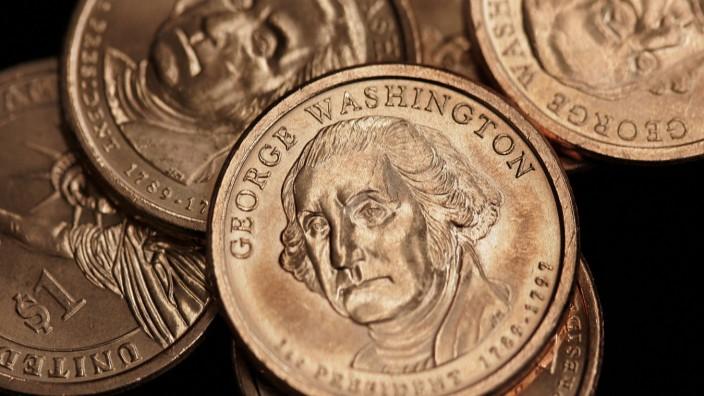 Haushaltsstreit in USA: Ein-Dollar-Münzen, produziert von der staatlichen Prägeanstalt United States Mint