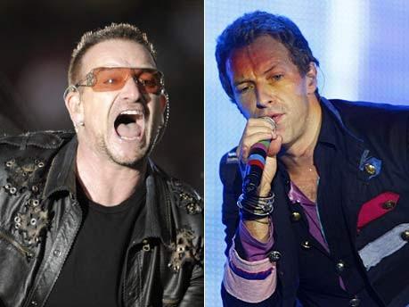 Bono, Chris Martin, ddp, Reuters