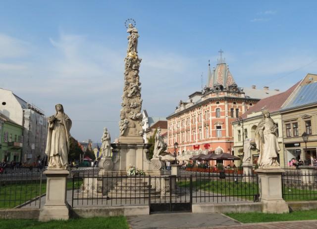 Marktplatz von Košice mit Mariensäule