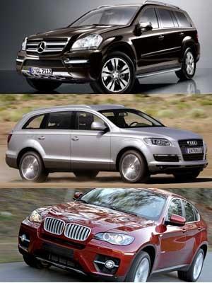 Daimler GL, Audi Q7, BMW X6, Auto, dpa, AP, ddp