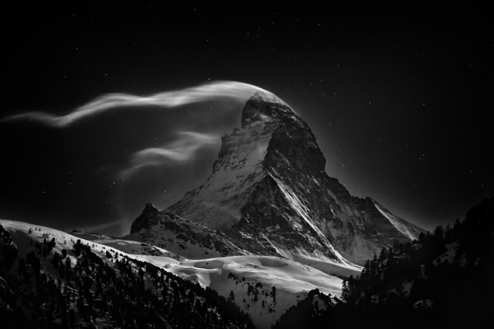 National Geographic Photo Contest 2012 - The Matterhorn: Night Clouds #2 (from The Matterhorn Series)
