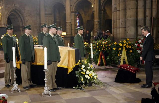 Trauerfeier für Ex-Ministerpräsident Hans Filbinger