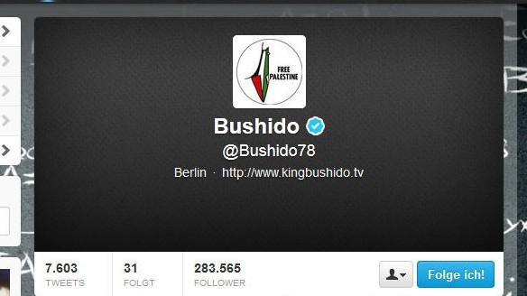 Bushido Twitter-Profil Israel Nahost