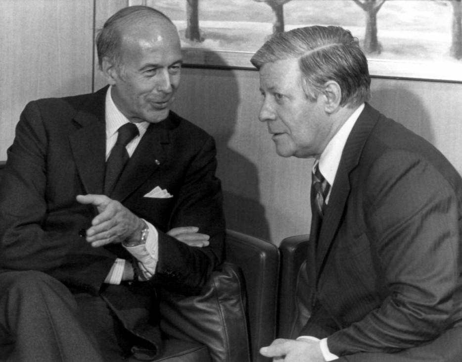 Bundeskanzler Schmidt und Giscard d'Estaing in Bonn