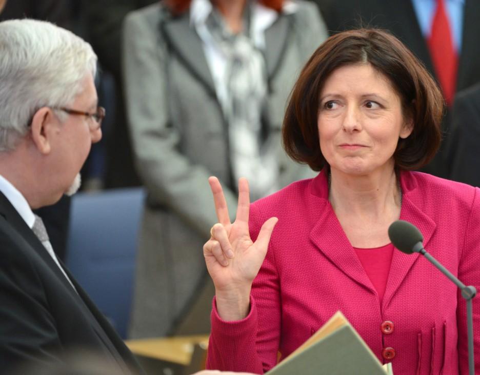 Amtswechsel in Rheinland-Pfalz - Vereidigung Dreyer