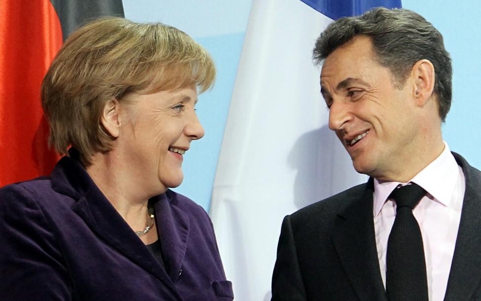 Erneutes Treffen Sarkozy - Merkel