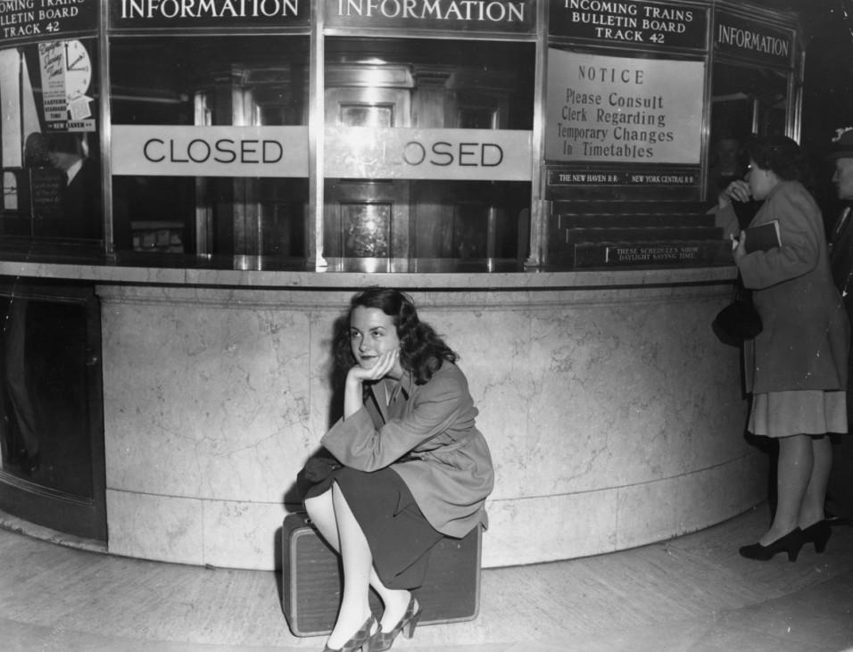 Wartende Reisende Grand Central Station New York