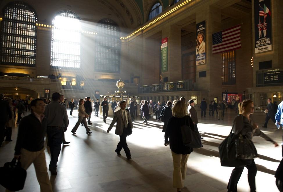Passanten in der Grand Central Station New York