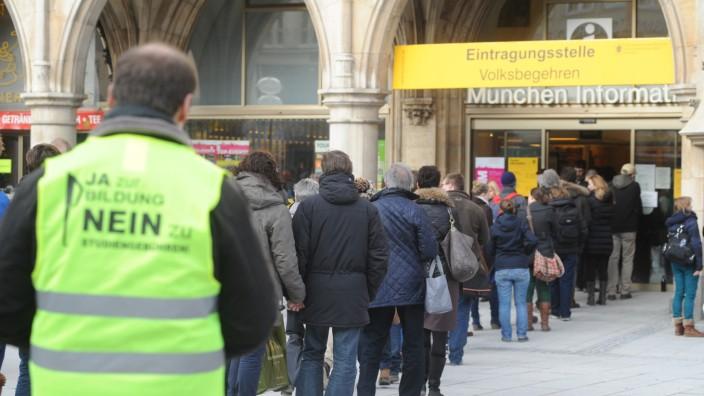 Volksbegehren gegen Studiengebühren, München