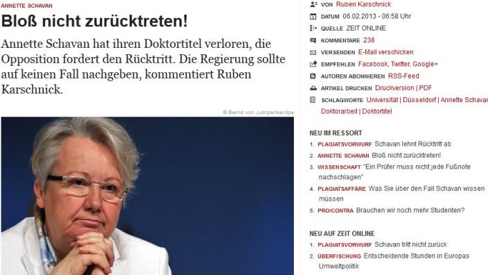 Screenshot: Zeit Online