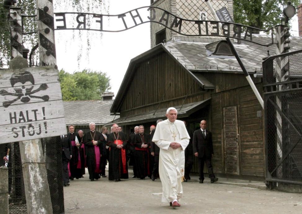 Papst Benedikt XVI. in Auschwitz
