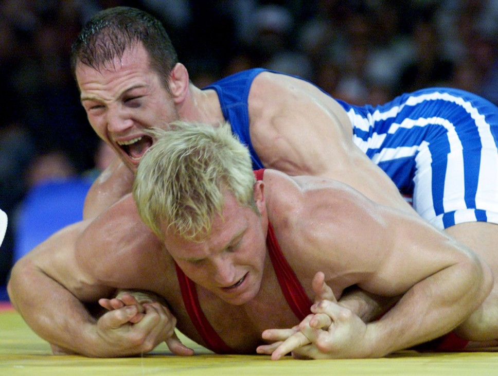 FILE PHOTO OF GERMAN WRESTLER ALEXANDER LEIPOLD IN SYDNEY OLYMPIC WRESTLING