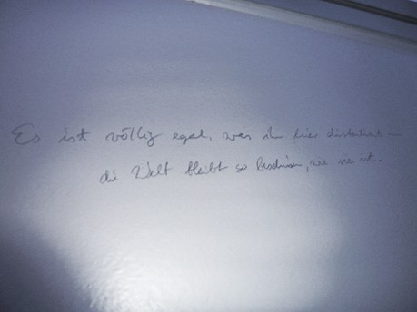 Klo-Graffiti Katrin Fischer