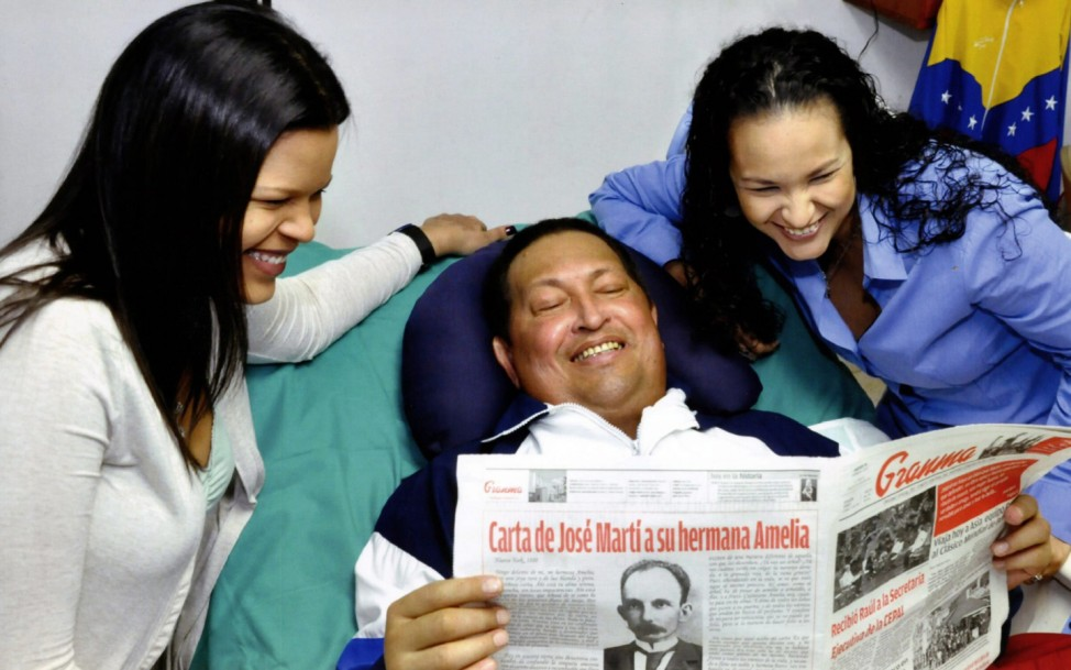 FIRST IMAGES OF CHAVEZ IN TWO MONTHS