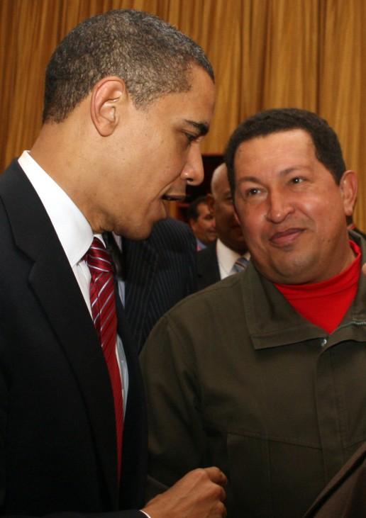 Barack Obama,  Hugo Chavez
