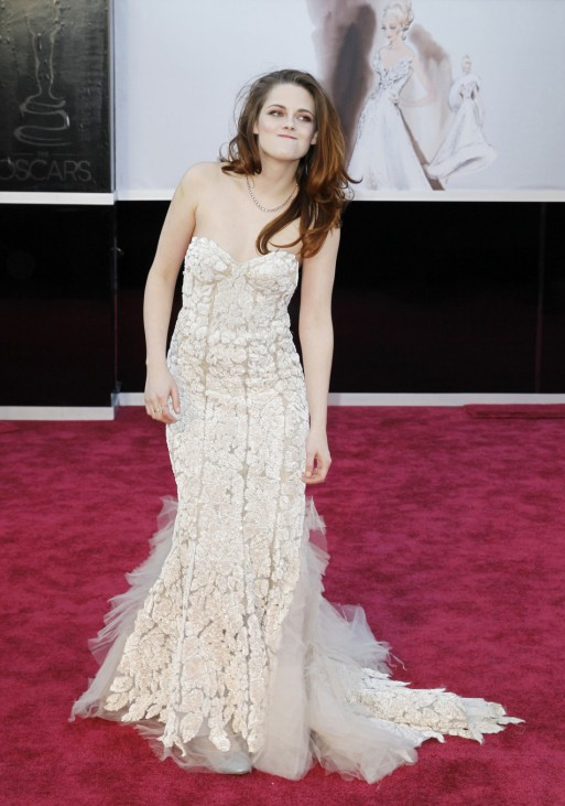 Presenter Kristen Stewart arrives at the 85th Academy Awards in Hollywood