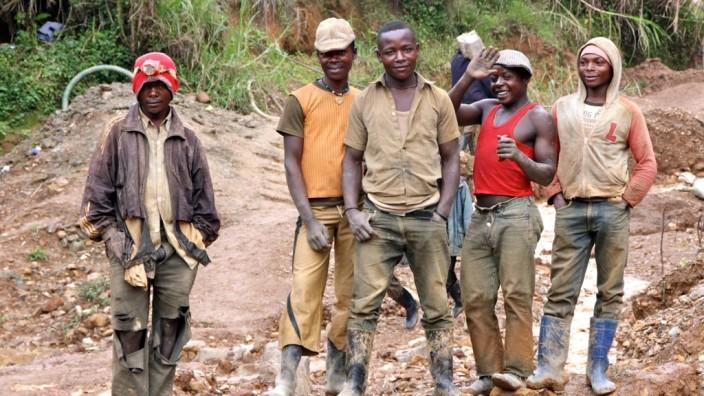 Minenarbeiter im Ost-Kongo