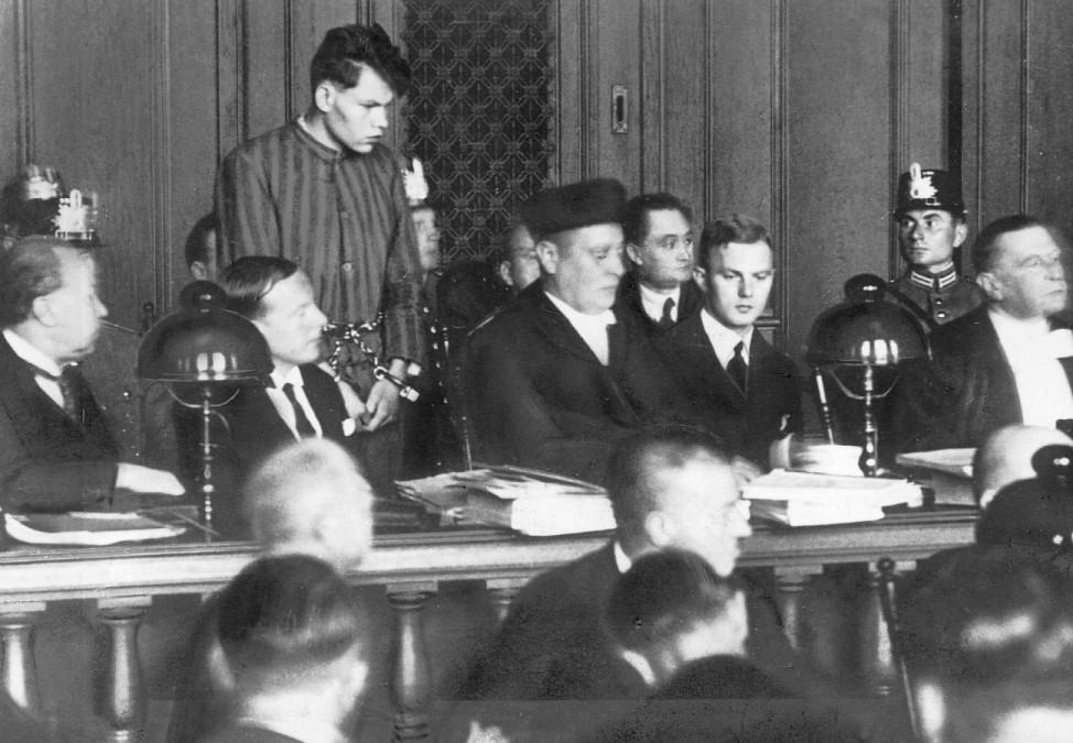 Angeklagter Martinus van der Lubbe im Reichstagsbrandprozeß, 1933 | Accused Martinus van der Lubbe in the Reichstag fire trial, 1933